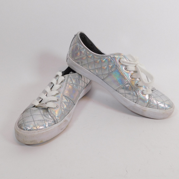 G By Guess Womens Silver Sneakers 75
